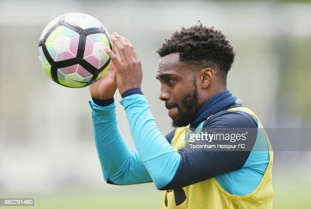 Danny Rose of Tottenham during the Tottenham Hotspur training session at Tottenham Hotspur Training Centre on May 12 2017 in Enfield England