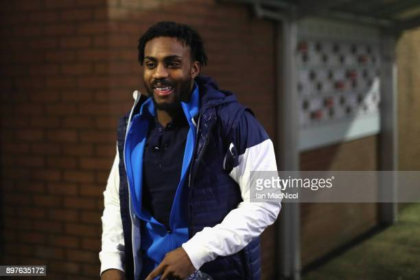 Danny Rose of Tottenham Hotspur arrives during the Premier League match between Burnley and Tottenham Hotspur at Turf Moor on December 23 2017 in...