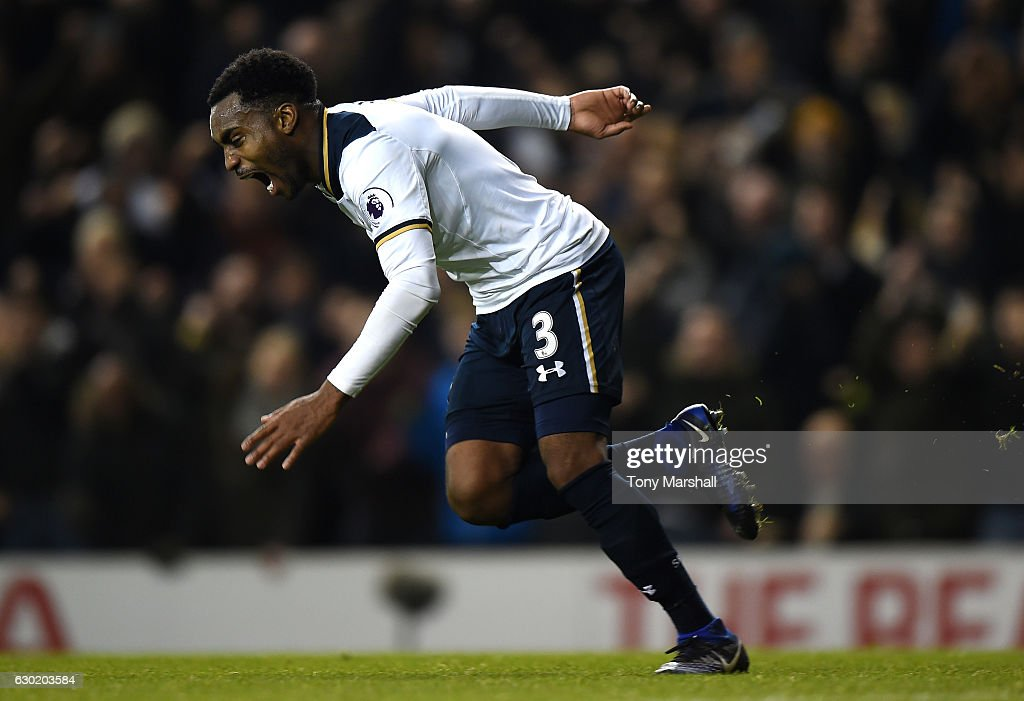 Danny Rose of Tottenham Hotspur celebrates scoring his sides second goal during the Premier League match between Tottenham Hotspur and Burnley at White Hart Lane on December 18, 2016 in London, England.