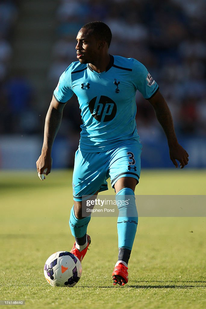 Danny Rose of Tottenham Hotspur during a pre season friendly match between Colchester United and Tottenham Hotspur at the Colchester Community Stadium on July 19, 2013 in Colchester, England.