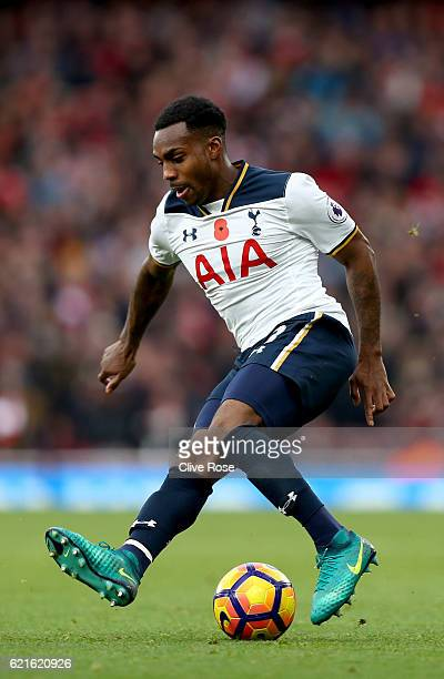 Danny Rose of Tottenham Hotspur during the Premier League match between Arsenal and Tottenham Hotspur at Emirates Stadium on November 6 2016 in...