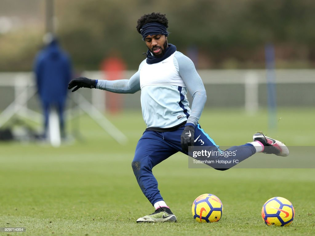 Danny Rose of Tottenham Hotspur during training on March 9, 2018 in Enfield, England.