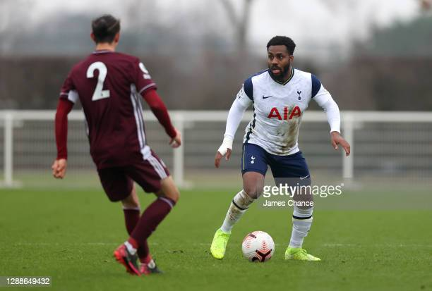 Danny Rose of Tottenham Hotspur in action during the Premier League 2 match between Tottenham Hotspur and Leicester City at Tottenham Hotspur...