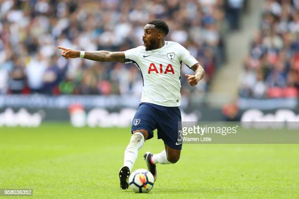 Danny Rose of Tottenham Hotspur in action during the Premier League match between Tottenham Hotspur and Leicester City at Wembley Stadium on May 13...