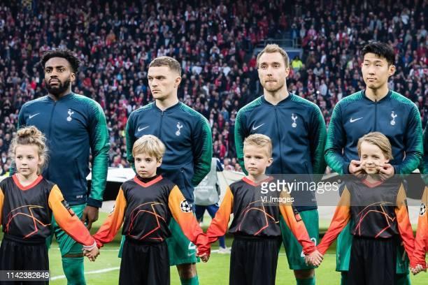 Danny Rose of Tottenham Hotspur Kieran Trippier of Tottenham Hotspur Christian Eriksen of Tottenham Hotspur HeungMin Son of Tottenham Hotspur during...