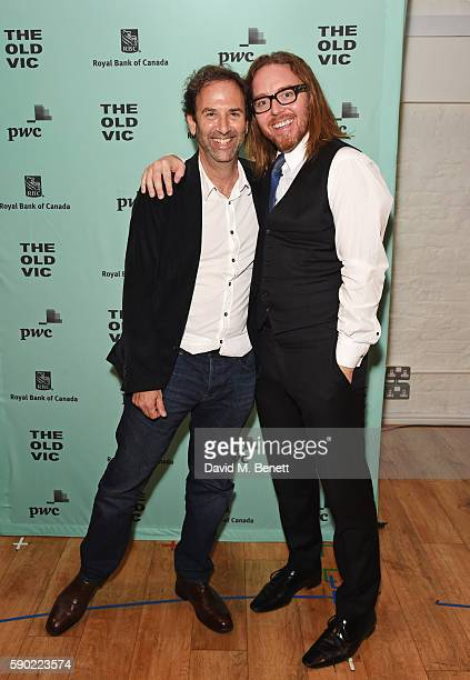 Danny Rubin and Tim Minchin attend the press night after party for Groundhog Day at The Old Vic Theatre on August 16 2016 in London England