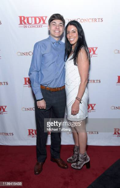 Danny Ruettiger and Cheryl Ruettiger attend the Rudy In Concert 25th Anniversary Celebration presented by CineConcerts at Microsoft Theater on March...