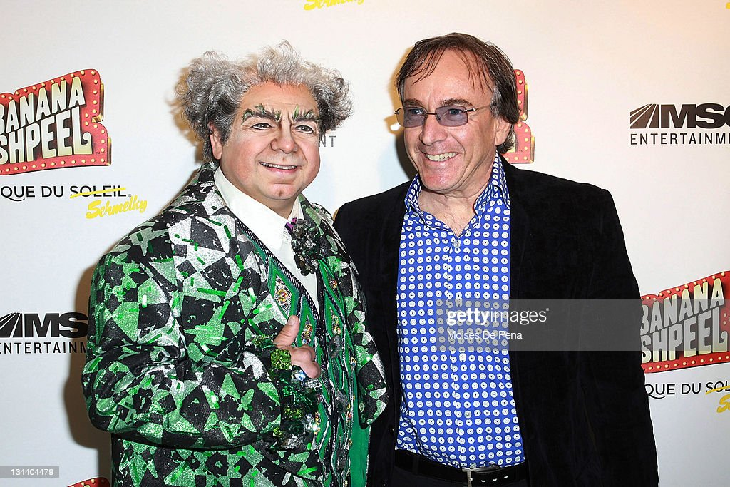 Danny Rutigliano and Daniel Lamarre attend the opening night of Cirque du Soleil's 'Banana Shpeel' at the Beacon Theatre on May 19, 2010 in New York City.