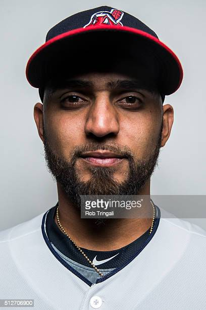 Danny Salazar of the Cleveland Indians poses for a portrait during photo day at the Cleveland Indians Development Complex on February 27 2016 in...
