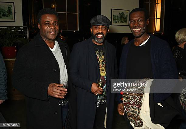 Danny Sapani Clarence Smith and Ansu Kabia attend the press night after party of the Kenneth Branagh Theatre Company's production of 'Red Velvet' at...