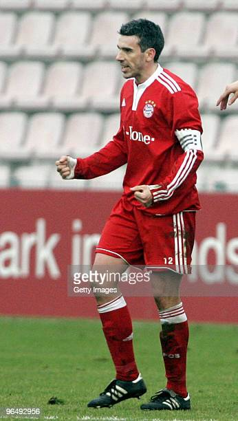 Danny Schwarz of FC Bayern II during the 3Liga match between SpVgg Unterhaching and Bayern Muenchen II at the Generali Sportpark on January 24 2010...