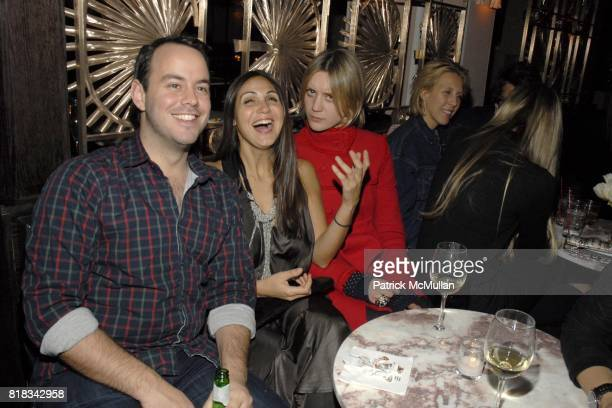 Danny Shea Sabine Heller and Frances TulkHart attend PRABAL GURUNG Fall 2010 Collection After Party at Kenmare on February 13 2010 in New York City