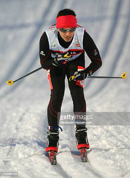 Danny Silva of Portugal competes in the Men 1,25 km Sprint Classical Event during the FIS Nordic World Ski Championships 2007 on February 22, 2007 in...
