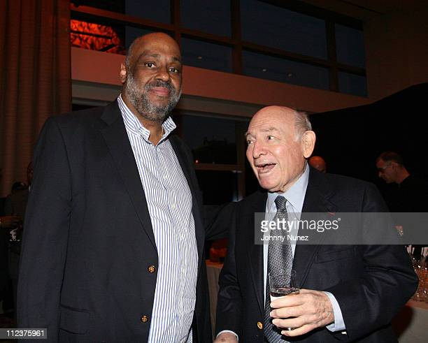 Danny Simmons and George Wein during Rush East New York Celebration Hosted By Russell Simmons at Time Warner Center in New York City New York United...