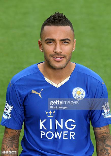 Danny Simpson during the Leicester City photo call at King Power Stadium on October 23 2015 in Leicester United Kingdom