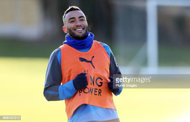 Danny Simpson during the Leicester City training session at Belvoir Drive Training Complex on January 18 2018 in Leicester United Kingdom