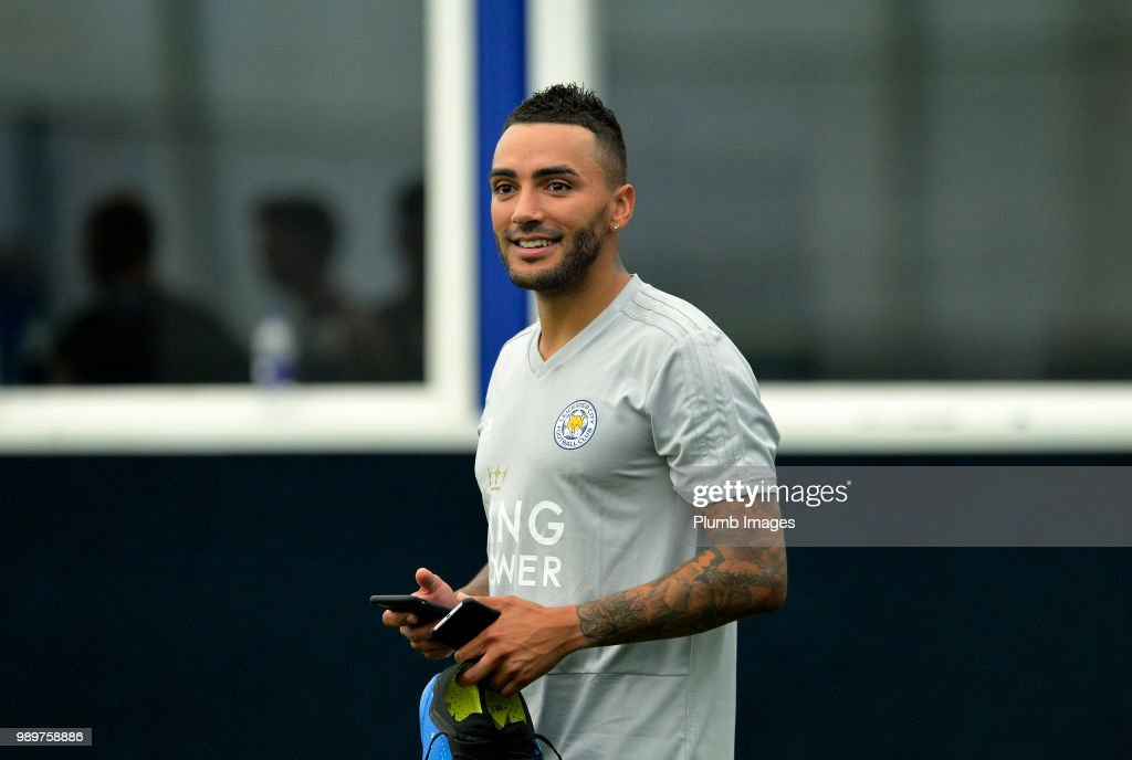 Danny Simpson during training as Leicester City Players Return to Pre-Season Training at Belvoir Drive Training Complex on July 02 , 2018 in Leicester, United Kingdom.