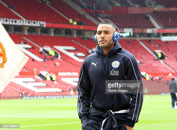 Danny Simpson of Leicester City at Old Trafford ahead of the Premier League match between Manchester United and Leicester City at Old Trafford on May...