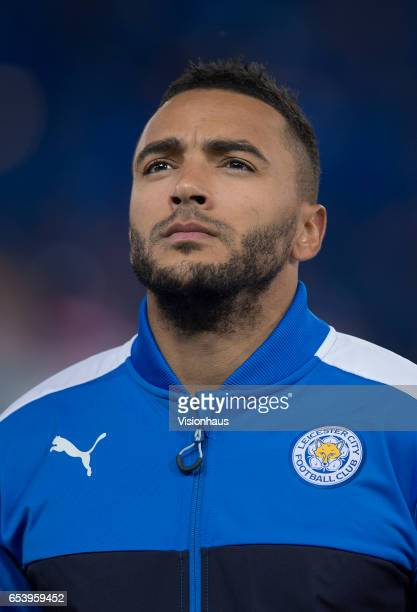 Danny Simpson of Leicester City before the UEFA Champions League Round of 16 second leg match between Leicester City and Sevilla FC at The King Power...