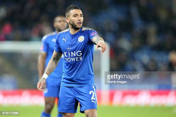 Danny Simpson of Leicester City during the FA Cup fifth round match between Leicester City and Sheffield United at King Power Stadium on February...