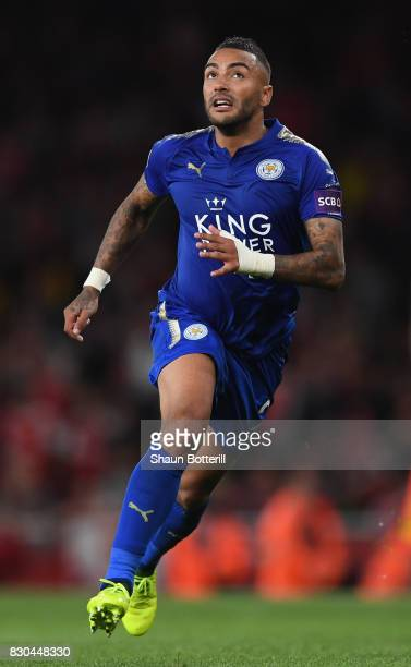 Danny Simpson of Leicester City during the Premier League match between Arsenal and Leicester City at Emirates Stadium on August 11 2017 in London...