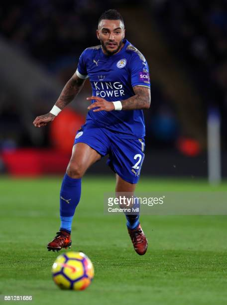 Danny Simpson of Leicester City during the Premier League match between Leicester City and Tottenham Hotspur at The King Power Stadium on November 28...
