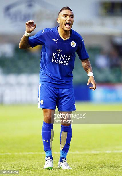 Danny Simpson of Leicester city during the preseason friendly between Lincoln City and Leicester City at Sincil Bank Stadium on July 21 2015 in...