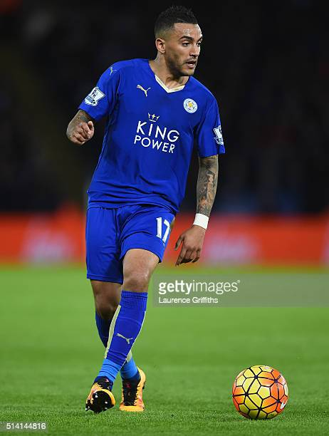 Danny Simpson of Leicester City in action during the Barclays Premier League match between Leicester City and West Bromwich Albion at The King Power...