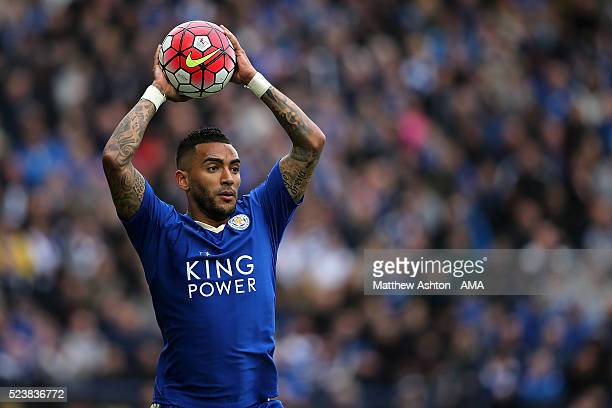 Danny Simpson of Leicester City in action during the Barclays Premier League match between Leicester City and Swansea City at The King Power Stadium...