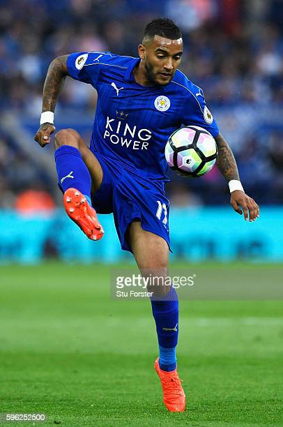 Danny Simpson of Leicester City in action during the Premier League match between Leicester City and Swansea City at The King Power Stadium on August...