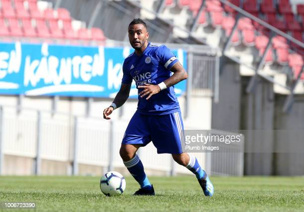 Danny Simpson of Leicester City in action during the preseason friendly match between Leicester City and Udinese at Worthersee Stadion on July 28...