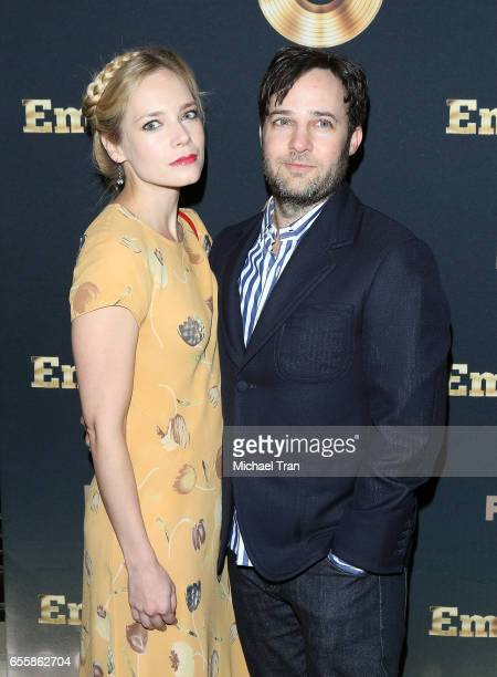 Danny Strong and Caitlin Mehner arrive to the Spring premiere of FOX's 'Empire' held at Pacific Theatres at The Grove on March 20 2017 in Los Angeles...