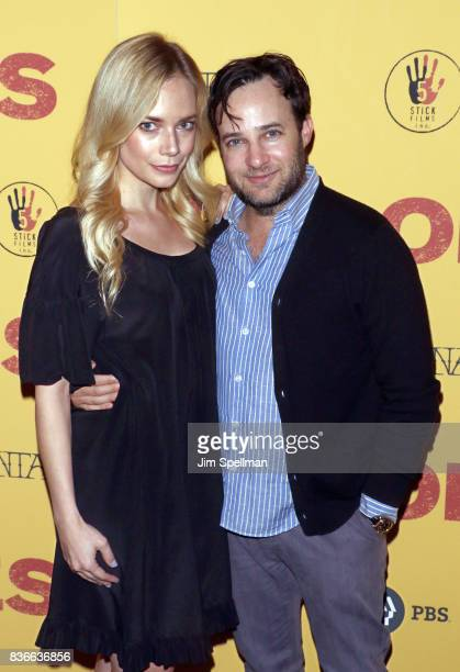 Danny Strong and Caitlin Mehner attend the 'Dolores' New York premiere at The Metrograph on August 21 2017 in New York City