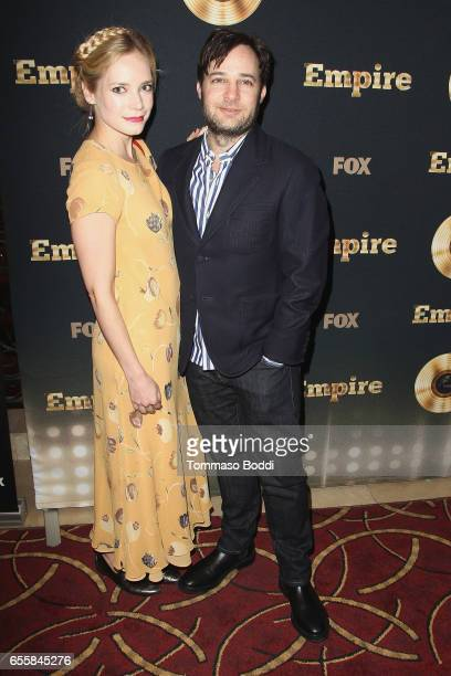 Danny Strong and Caitlin Mehner attend the Spring Premiere Of FOX's 'Empire' at Pacific Theatres at The Grove on March 20 2017 in Los Angeles...