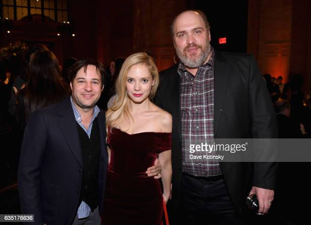Danny Strong Caitlin Mehner and Glenn Fleshler attend the Showtime and Elit Vodka hosted BILLIONS Season 2 premiere and party held at Cipriani's in...