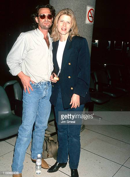 Danny Sugerman and Fawn Hall during Danny Sugerman and Fawn Hall Sighting at LAX April 20 1993 at Los Angeles International Airport in Los Angeles...