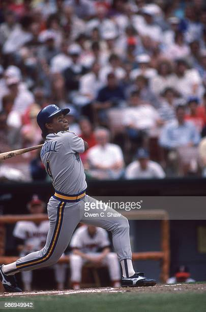 ANAHEIM CA Danny Tartabull of the Seattle Mariners circa 1986 bats against the California Angels at the Big A in Anaheim California