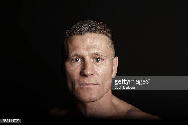 Danny 'The Green Machine' Green poses during the official weigh in at Crown Resorts on August 2 2016 in Melbourne Australia Danny Green will fight...
