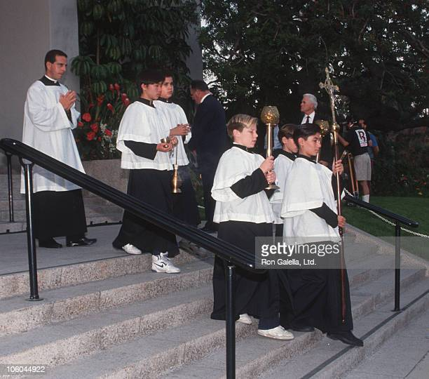 Danny Thomas Funeral during Funeral for Danny Thomas February 8 1991 at Good Shepherd Church in Beverly Hills California United States