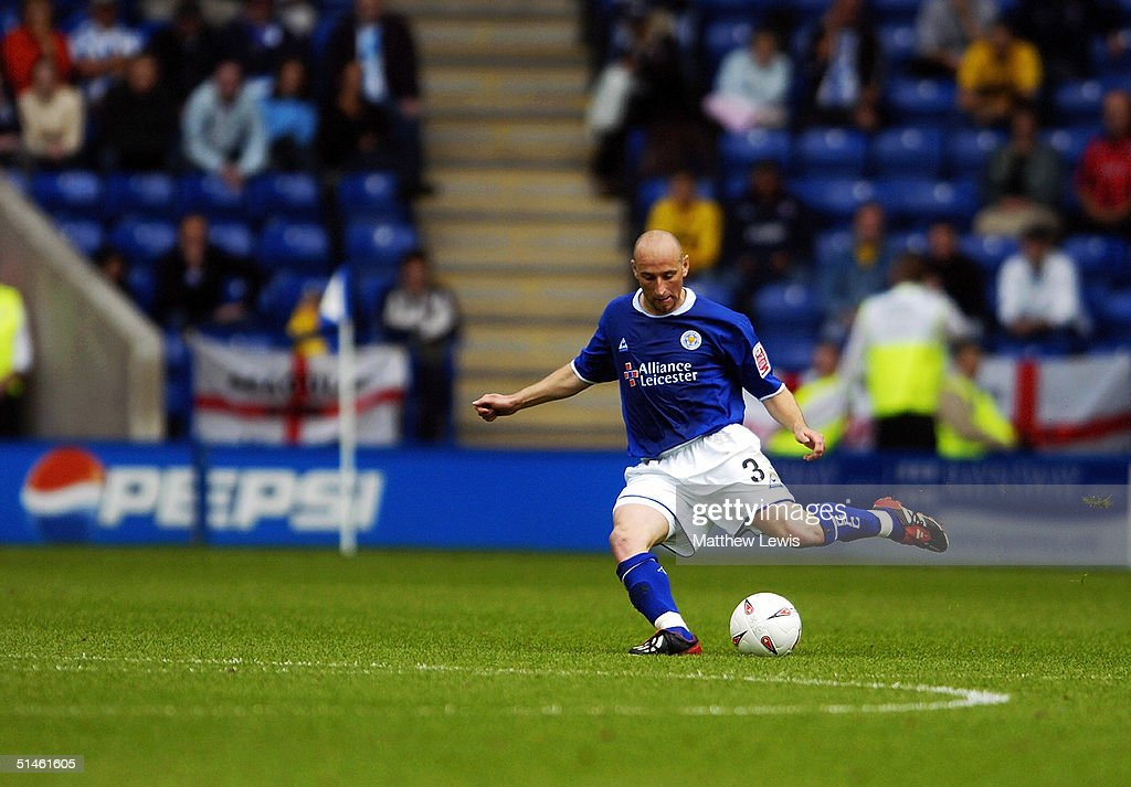 Danny Tiatto of Leicester City during the Coca-Cola Championship match between Leicester City and Brighton and Hove Albion at the Walkers Stadium on August 30, 2004 in Leicester, England.