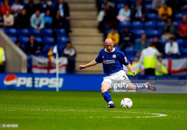 Danny Tiatto of Leicester City during the CocaCola Championship match between Leicester City and Brighton and Hove Albion at the Walkers Stadium on...