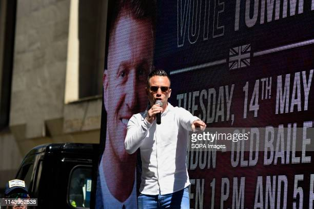 Danny Tommo seen addressing the crowd outside The Old Bailey in London The rightwing leader Tommy Robinson whose real name is Stephen YaxleyLennon...