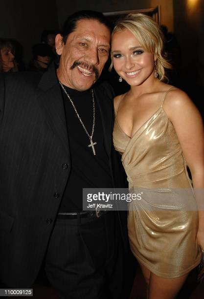 Danny Trejo and Hayden Panettiere during the 2007 Spike TV Scream Awards at The Greek Theater on October 19 2007 in Los Angeles California