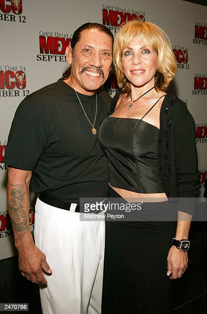 Danny Trejo and his wife attend the New York Premiere of Once Upon A Time In Mexico at the Loews Lincoln Square September 5 2003 in New York City