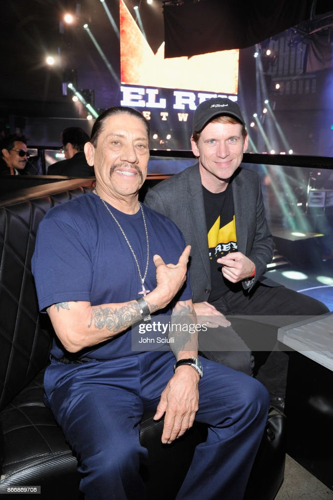 Danny Trejo and President and GM of El Rey Network Daniel Tibbets attend Bushido Battleground Fight Night at Exchange LA on October 26, 2017 in Los Angeles, California.
