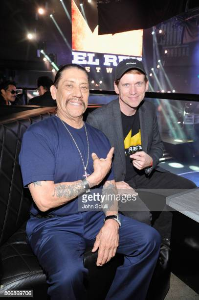 Danny Trejo and President and GM of El Rey Network Daniel Tibbets attend Bushido Battleground Fight Night at Exchange LA on October 26 2017 in Los...