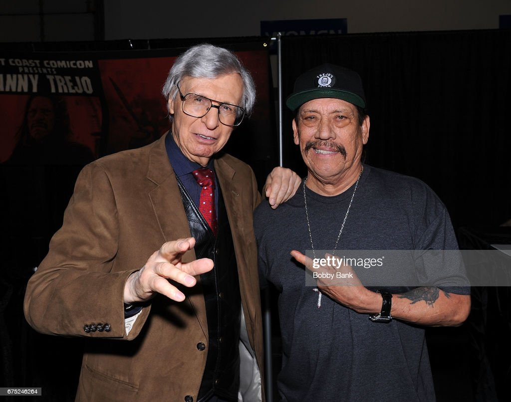 Danny Trejo and The Amazing Kreskin attend the 2017 East Coast Comic Con at Meadowlands Exposition Center on April 30, 2017 in Secaucus, New Jersey.