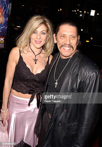 Danny Trejo and wife arrive at the premiere of Paycheck