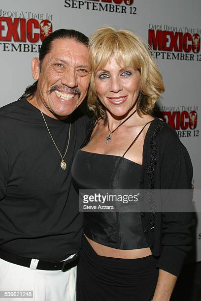 Danny Trejo and wife at the premiere of Once Upon A Time In Mexico