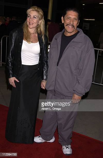 Danny Trejo and wife Debbie during Formula 51 Los Angeles Premiere at Arc Light Theater in Hollywood California United States